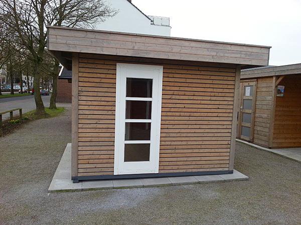 Stabiles Gartenhaus mit Flachdach aus Polen